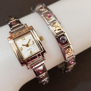 Avon Charming Stretch Watch and Bracelet Set NIB